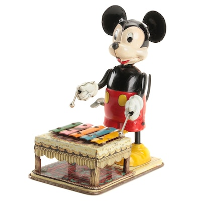 Line Mars Toys for Walt Disney Mickey Mouse Wind-Up Toys