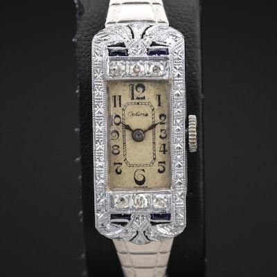 18K Optima Diamond and Sapphire Wristwatch