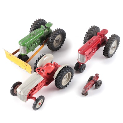 Pressed Steel and Cast Iron Tractor Toys, Early to Mid-20th Century
