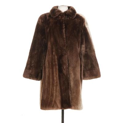 Sheared Beaver Fur Coat From Alixaudre Furs