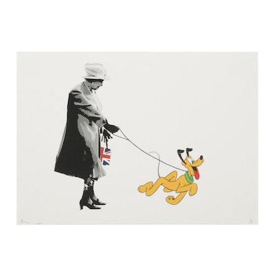 """Death NYC Pop Art Graphic Print """"Queen Plu Dog,"""" 2020"""