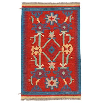 3'2 x 5'2 Handwoven Afghan Kilim Area Rug