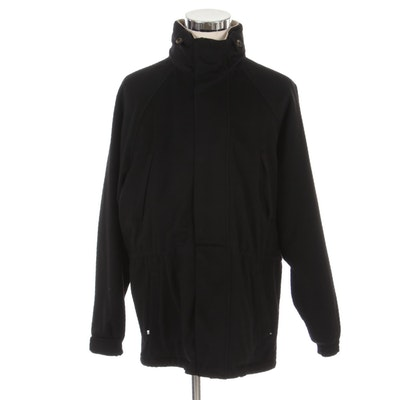 Men's Loro Piana Cashmere Icer Coat in Black