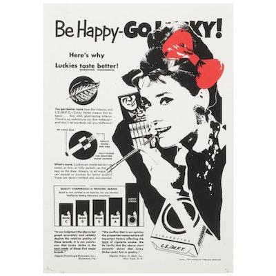 "Death NYC Audrey Hepburn Pop Art Graphic Print ""Audrey Lucky,"" 2020"