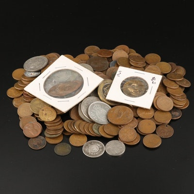 Collection of U.S. Cents and Foreign Coins