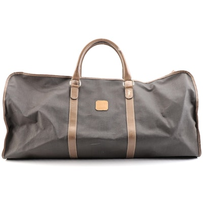 Dunhill Duffel Bag in Coated Canvas with Leather Trim
