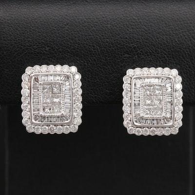 14K 2.41 CTW Diamond Earrings