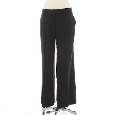 Elie Tahari Black Stretch Trousers
