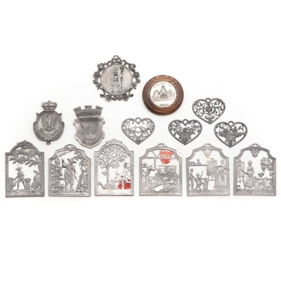 Wilhelm Schweizer Handcast Pewter Wall Ornaments and Other Wall Medallions