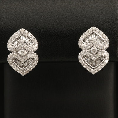 14K 1.70 CTW Diamond Earrings