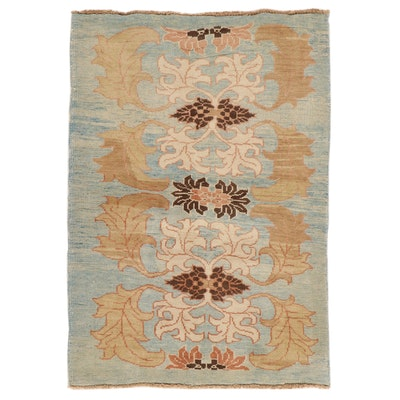 4'2 x 6'1 Hand-Knotted Turkish Donegal Area Rug