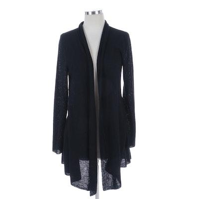 Eileen Fisher Black Wool Cardigan