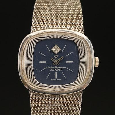Jules Jurgensen Diamond Dial Gold Filled Wristwatch