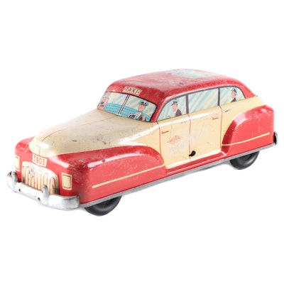 Wolverine T903 Tin Lithograph Toy Taxi Cab, 1935