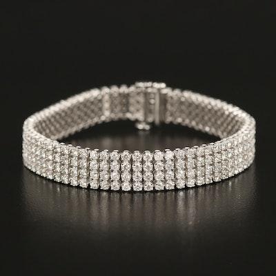 14K 7.00 CTW Diamond Multi-Row Bracelet