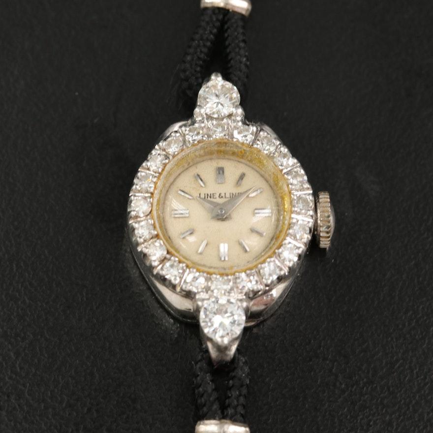 Platinum Line & Line Diamond Wristwatch
