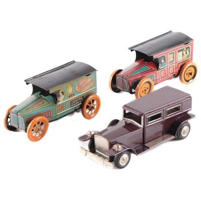 J. Chein & Co. and Other Tin Lithograph Wind-Up and Friction Cars