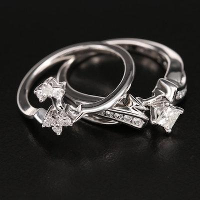10K 0.61 CTW Diamond Ring Set