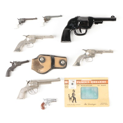 Hubley Toy Cap Guns and Other Miniature Toy Pistols, Mid-20th Century