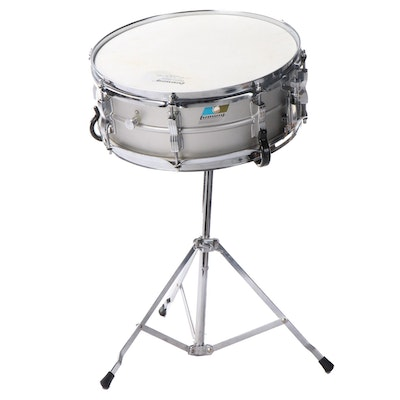 Ludwig Snare Drum UFO with Hard Case and Stand, 1970s