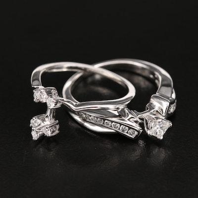 10K 0.56 CTW Diamond Ring Set