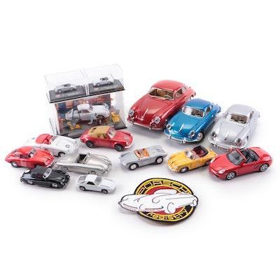 Porsche 356 and Other Porsche Diecast Cars Including Schuco Diorama