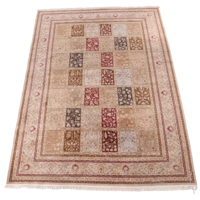 9'9 x 14'2 Hand-Knotted Garden Panel Room Sized Rug