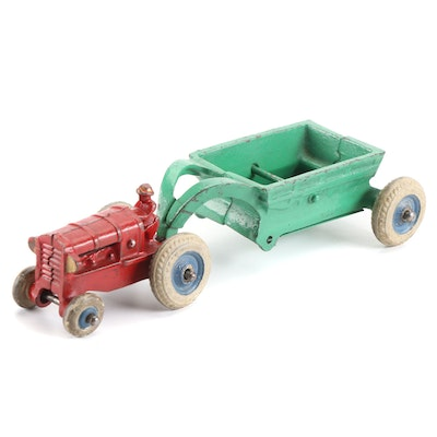 Arcade Cast Iron Balloon Tire Tractor with Trailer, Early 20th Century