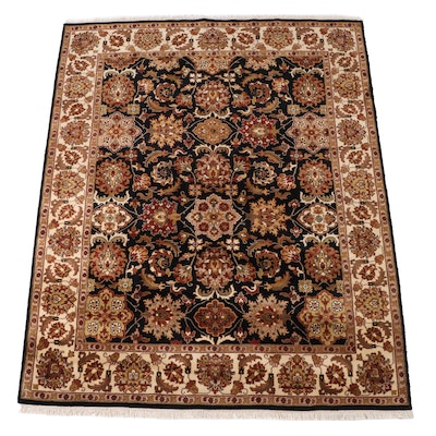 7'11 x 10'2 Hand-Knotted Indian Mahal Area Rug