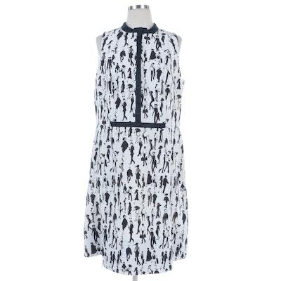 Akris Punto People Watching Print Sleeveless Dress