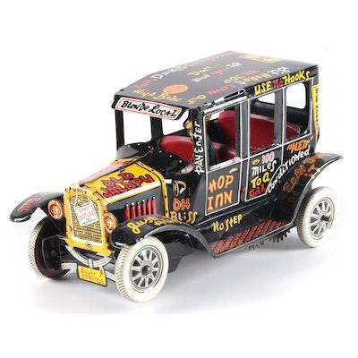 """Louis Marx """"Old Jalopy"""" Tin Lithograph Taxi Car, 1940s"""