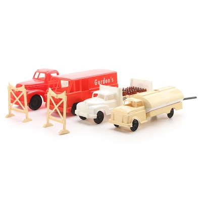 Marx and Como Pepsi-Cola and Other Plastic Toy Trucks, Mid-20th Century