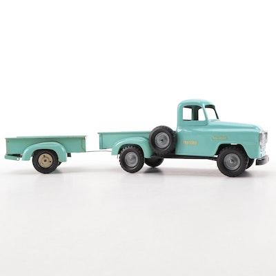 Tru-Scale Pressed Steel International Truck and Trailer, Mid-20th Century