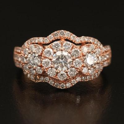 10K 1.22 CTW Diamond Ring