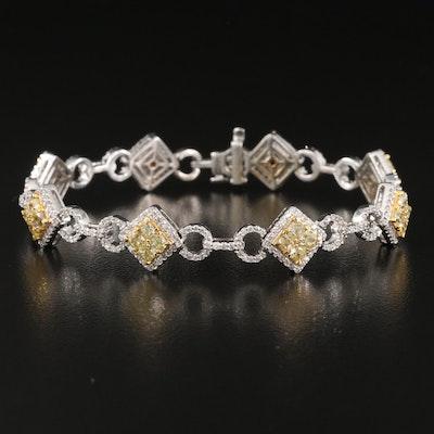 14K 5.65 CTW Diamond Link Bracelet