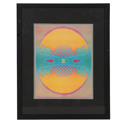 """Offset Lithograph After Peter Max """"123 Infinity"""""""
