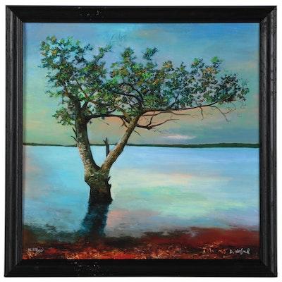 "David Najar Giclée of Tree ""New Life,"" 21st Century"