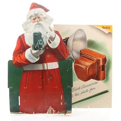 Kodak Christmas Window Advertising Sign, Mid-20th Century