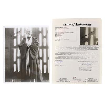 """Alec Guinness """"Star Wars Obi-Wan Kenobi"""" Signed Photo Print, JSA Full Letter"""