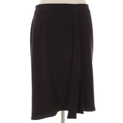 Giorgio Armani False Pleat Skirt in Stretch Crepe