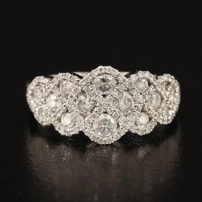 14K 1.25 CTW Diamond Braided Ring