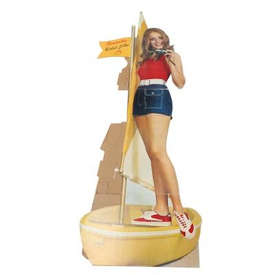 Kodak Film Cardboard Lifesize Cutout Standup Advertisement, Mid/Late 20th C