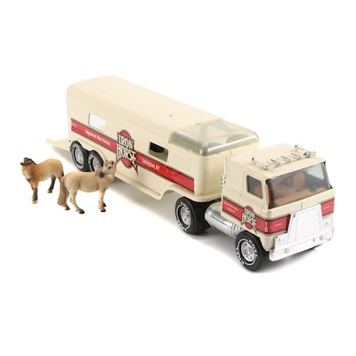 """Ertl Pressed Steel """"Iron Horse"""" Toy Horse Transport Truck, Late 20th Century"""
