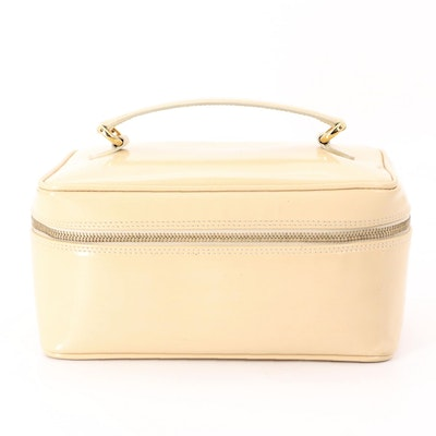 Gucci Vanity Travel Case in Patent Leather with Bamboo Zipper Pulls