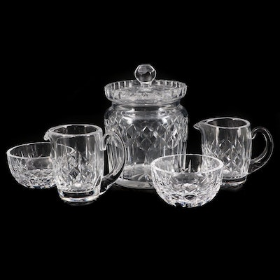 """Waterford Crystal """"Lismore"""" Biscuit Barrel and Giftware Sugar and Creamer Sets"""