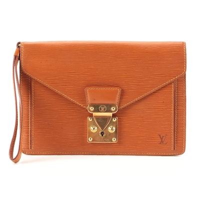 Louis Vuitton Dragonne Pochette in Cipango Gold Epi Leather