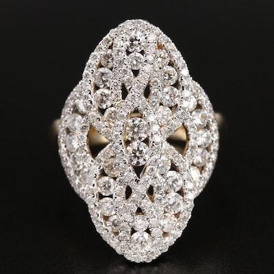 14K 2.40 CTW Diamond Openwork Ring