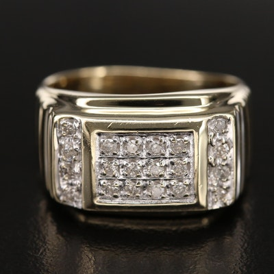 10K 0.37 CTW Diamond Cluster Ring