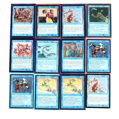 """""""Magic: The Gathering"""" Blue Reserved List Cards with """"Illusions of Grandeur"""""""