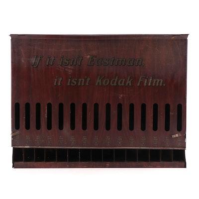 Eastman Kodak Roll Film Metal Display Case, Early 20th Century